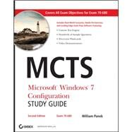 MCTS Microsoft Windows 7 Configuration Study Guide, Study Guide Exam 70-680 by Panek, William, 9780470948453