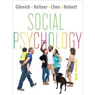 Social Psychology (Third Edition) W/EB REG CRD by GILOVICH,THOMAS, 9780393138481