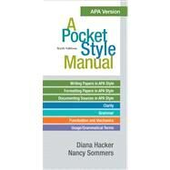 A Pocket Style Manual, APA Version by Hacker, Diana; Sommers, Nancy, 9780312568498