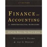 Finance and Accounting for Nonfinancial Managers by Droms, William G., 9780465018499