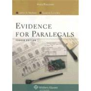 Evidence for Paralegals by Marlowe, Joelyn D., 9780735558526