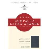 RVR 1960 Biblia Compacta Letra Grande con Referencias, zafiro azul simulación piel by Unknown, 9781586408541