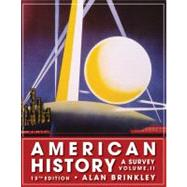 American History: A Survey, Volume 2 by Brinkley, Alan, 9780077238544