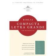 RVR 1960 Biblia Compacta Letra Grande con Referencias, turquesa simulación piel by Unknown, 9781586408572