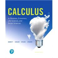 Calculus for Business, Economics, Life Sciences, and Social Sciences by Barnett, Raymond A.; Ziegler, Michael R.; Byleen, Karl E.; Stocker, Christopher J., 9780134668574