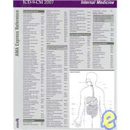 ICD-9-CM 2007 Express Reference Coding Card Internal Medicine by AMA, 9781579478575