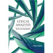 Lexical Analysis by Hanks, Patrick, 9780262018579