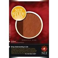 NLT Study Bible: New Living Translation Brown / Tan TuTone LeatherLike Personal Size Bible by Tyndale, 9781414338590