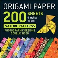 Origami Paper 200 Sheets Nature Patterns 6 Inches by Tuttle Publishing, 9780804848619