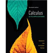 Calculus & Its Applications plus MyLab Math with Pearson eText -- Title-Specific Access Card Package by Goldstein, Larry J.; Lay, David C.; Schneider, David I.; Asmar, Nakhle H., 9780134768687