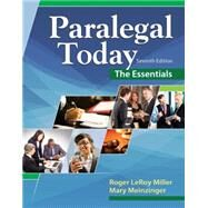 Paralegal Today The Essentials by Miller, Roger LeRoy; Urisko, 9781305508743