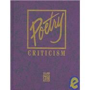Poetry Criticism by Lee, Michelle, 9780787698751
