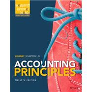Accounting Principles, Chapters 1-12 by Weygandt, Jerry J.; Kieso, Donald E.; Kimmel, Paul D., 9781118978757