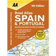 AA Road Atlas Spain & Portugal by AA Media Limited, 9780749578763
