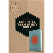 CSB Essential Teen Study Bible, Personal Size, Coral Flower LeatherTouch by Unknown, 9781433648779