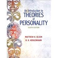 An Introduction to Theories of Personality by Olson, Matthew H.; Hergenhahn, B.R. H., Ph.D., Professor Emeritus, 9780205798780