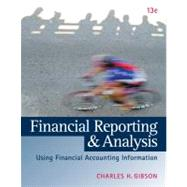 Financial Reporting and Analysis (with ThomsonONE Printed Access Card) by Gibson, Charles H., 9781133188797