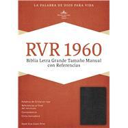 RVR 1960 Biblia Letra Grande Tamaño Manual, negro imitación piel con índice by Unknown, 9781586408800