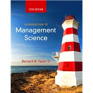 Introduction to Management Science by Taylor, Bernard W., III, 9780133778847