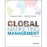 Global Marketing Management 7E by Kotabe, Masaaki; Helsen, Kristiaan, 9781119298847
