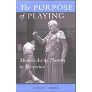The Purpose of Playing by Gordon, Robert, 9780472068876