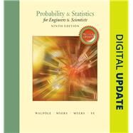 Probability & Statistics for Engineers & Scientists, MyStatLab Update with MyStatLab plus Pearson eText -- Access Card Package by Walpole, Ronald E.; Myers, Raymond; Myers, Sharon L.; Ye, Keying, 9780134468914