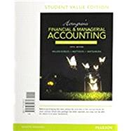 Horngren's Financial & Managerial Accounting, The Financial Chapters, Student Value Edition Plus MyAccountingLab with Pearson eText -- Access Card Package by Miller-Nobles, Tracie L.; Mattison, Brenda L.; Matsumura, Ella Mae, 9780134078939