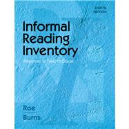 Informal Reading Inventory : Preprimer to Twelfth Grade by Roe, Betty; Burns, Paul C., 9780495808947
