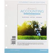 Horngren's Accounting, The Financial Chapters, Student Value Edition Plus MyAccountingLab with Pearson eText -- Access Card Package by Miller-Nobles, Tracie L.; Mattison, Brenda L.; Matsumura, Ella Mae, 9780134078960
