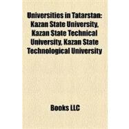 Universities in Tatarstan by , 9781158638963