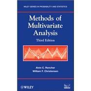 Methods of Multivariate Analysis by Rencher, Alvin C.; Christensen, William F., 9780470178966