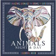 Animals Night & Day Coloring Book by Moffett, Patricia, 9781438008974
