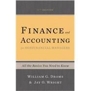 Finance and Accounting for Nonfinancial Managers by Droms, William G.; Wright, Jay O., 9780465078981