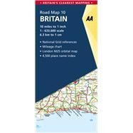 Aa Britain Road Map by Automobile Association (Great Britain), 9780749578985