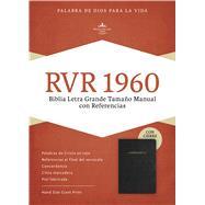 RVR 1960 Biblia Letra Grande Tamaño Manual, negro piel fabricada con índice, con cierre by Unknown, 9781586408985