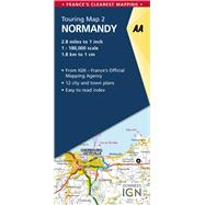 AA Touring Map Normandy by AA Media Limited, 9780749579005