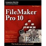 FileMaker Pro 10 Bible by Cologon, Ray, 9780470429006