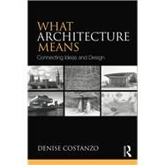 What Architecture Means: Connecting Ideas and Design by Costanzo; Denise, 9780415739030