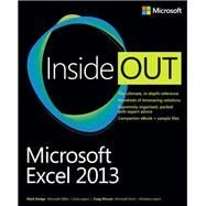 Microsoft Excel 2013 Inside Out by Stinson, Craig; Dodge, Mark, 9780735669055