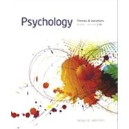Psychology Themes and Variations, Briefer Version by Weiten, Wayne, 9781133939061