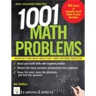 1,001 Math Problems by LearningExpress, LLC, 9781576859070