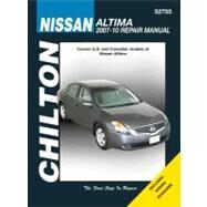 Chilton Nissan Altima Repair Manual 2007 - 2010: Covers U.s. and Canadian Models of Nissan Altima 2007 Through 2010