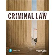 Criminal Law (Justice Series) by Moore, Jennifer L.; Worrall, John L., 9780134559094