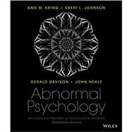 Abnormal Psychology by Kring, Ann M.; Johnson, Sheri L.; Davison, Gerald C. (CON); Neale, John M. (CON), 9781118859094