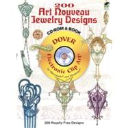 200 Art Nouveau Jewelry Designs CD-ROM and Book by Edited by Ren� Beauclair, 9780486489124