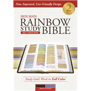 Holman Rainbow Study Bible: KJV Edition, Brown/Lavender LeatherTouch by Holman Bible Staff, 9781586409128