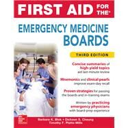 First Aid for the Emergency Medicine Boards Third Edition by Blok, Barbara; Cheung, Dickson; Platts-Mills, Timothy, 9780071849135