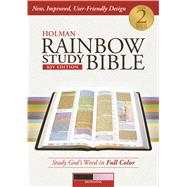 Holman Rainbow Study Bible: KJV Edition, Brown/Pink LeatherTouch by Holman Bible Staff, 9781586409135