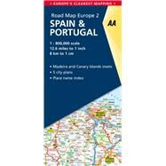 AA Road Map Europe Spain & Portugal by Automobile Association (Great Britain), 9780749579142