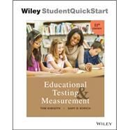 Educational Testing and Measurement by Tom Kubiszyn; Gary D. Borich, 9781119239154